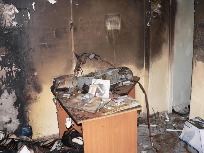 Пожар в офисе Справочной службы русского языка.